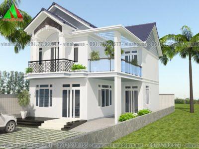 Mẫu biệt thự đẹp 4 tầng tân cổ điển (CĐT: Ông Hải – Thanh Hóa) BT15059
